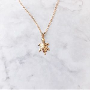 Jewelry - 14k Gold Filled Sea Turtle Dainty Necklace